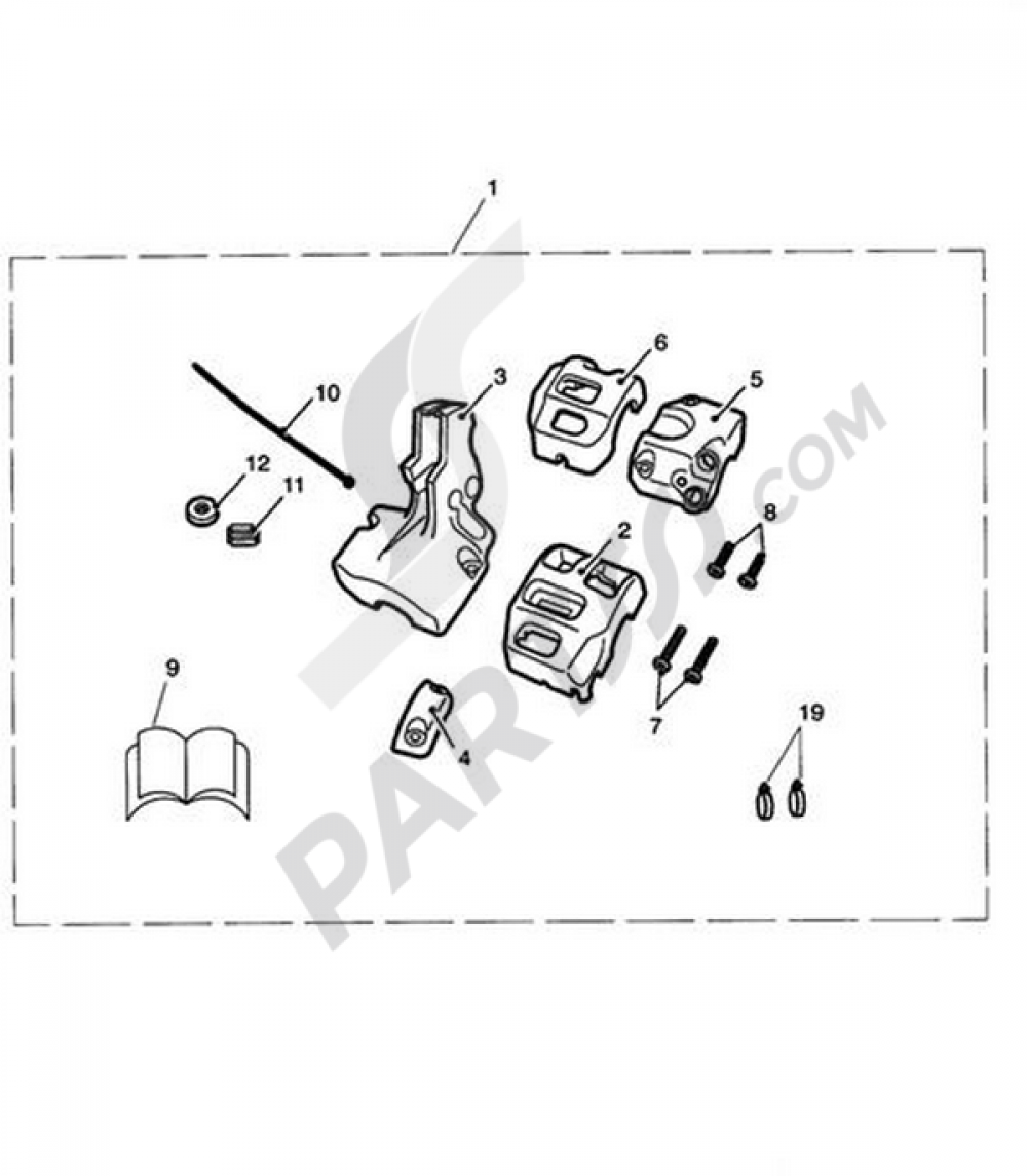 5915a59 housing, switch, kit, chrome triumph thunderbird 1600 1600 | wiring  library  wiring library