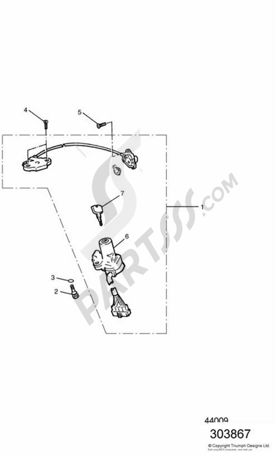 Triumph Thunderbird Sport Sport Dissassembly Sheet Purchase Genuine