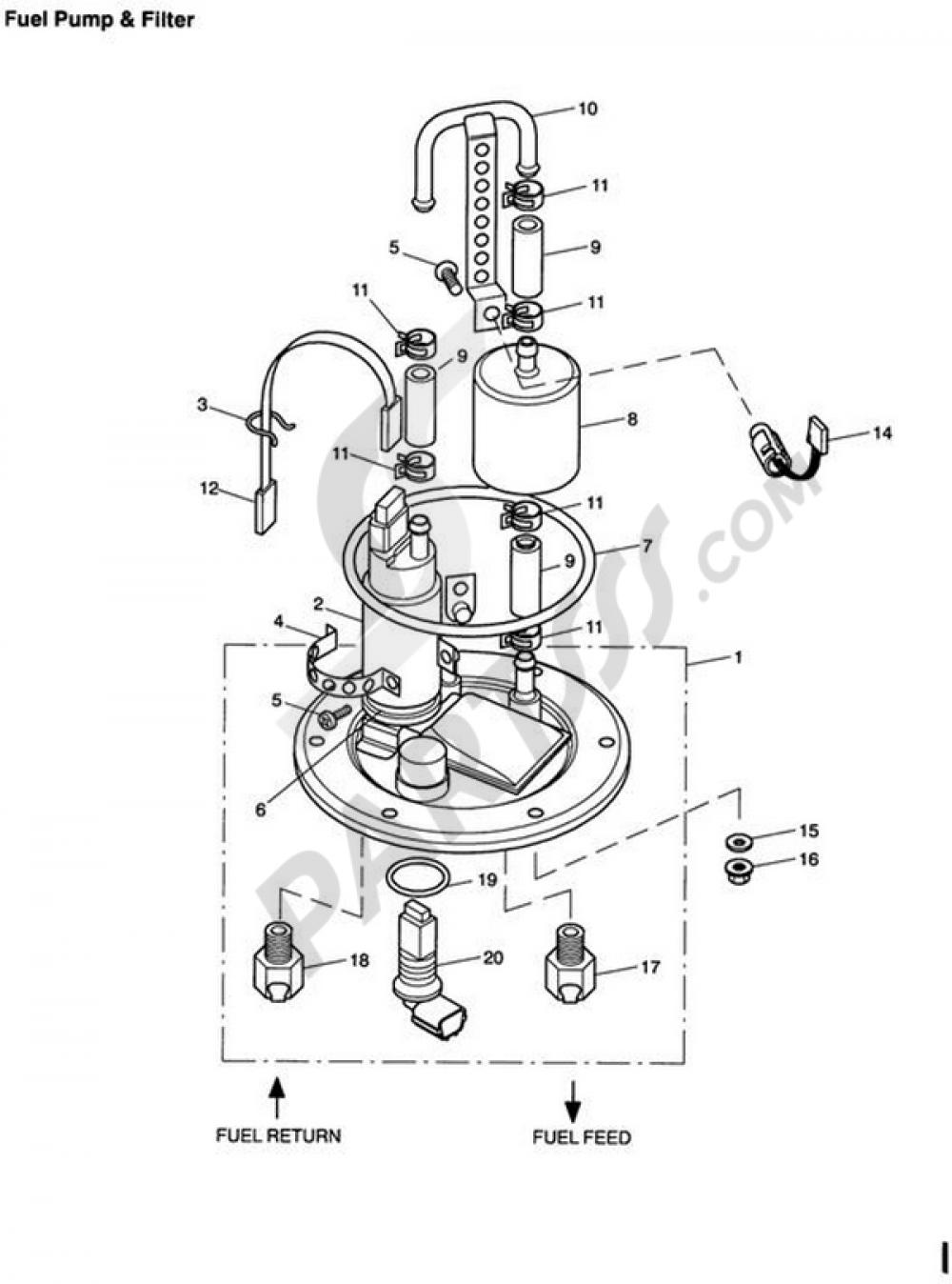 fuel pump and filter triumph tt600 tt600