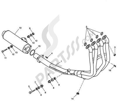Triumph TT600 TT600 Dissassembly sheet  Purchase genuine