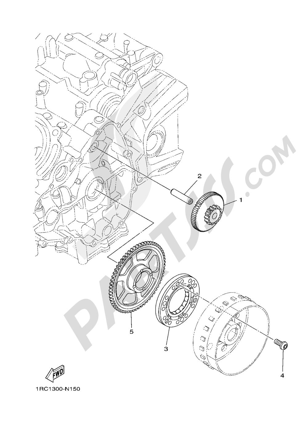 STARTER Yamaha MT-09 ABS 2016
