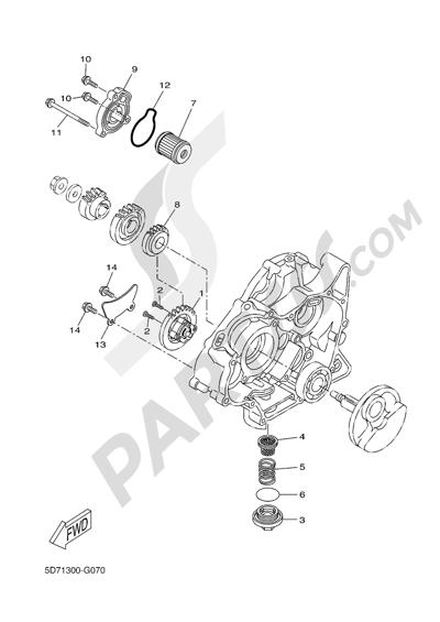 Yamaha MT-125 ABS 2016 OIL PUMP