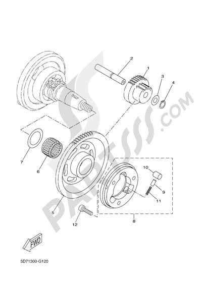 Yamaha MT-125 ABS 2016 STARTER CLUTCH