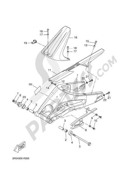 Yamaha MT-125 ABS 2016 REAR ARM