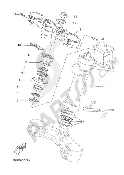 Yamaha MT-125 ABS 2016 STEERING