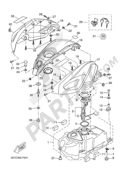 Yamaha MT-125 ABS 2016 FUEL TANK