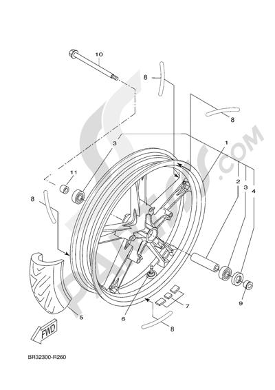 Yamaha MT-125 ABS 2016 FRONT WHEEL