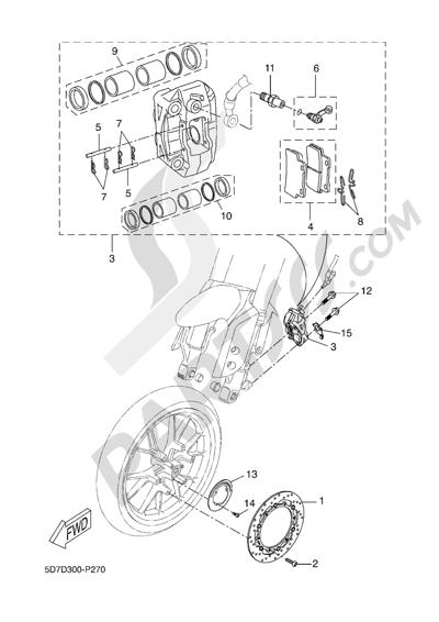 Yamaha MT-125 ABS 2016 FRONT BRAKE CALIPPER