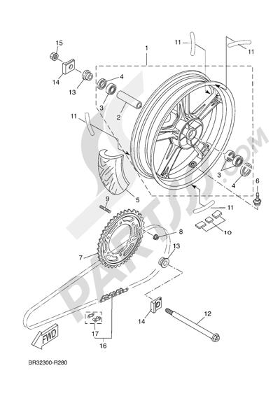 Yamaha MT-125 ABS 2016 REAR WHEEL