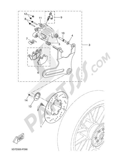 Yamaha MT-125 ABS 2016 REAR BRAKE CALIPPER