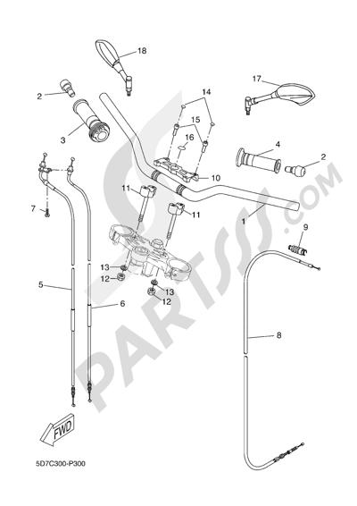 Yamaha MT-125 ABS 2016 HANDELBAR AND CABLES