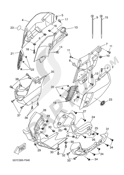 Yamaha MT-125 ABS 2016 FAIRING 1