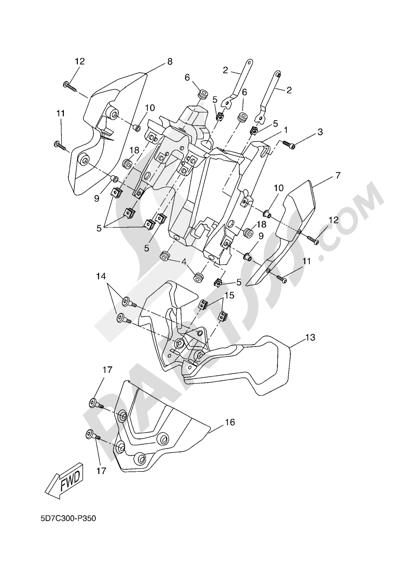 Yamaha MT-125 ABS 2016 FAIRING 2