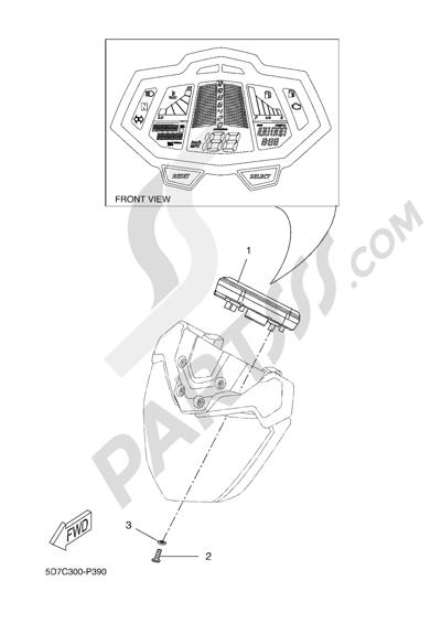 Yamaha MT-125 ABS 2016 METER