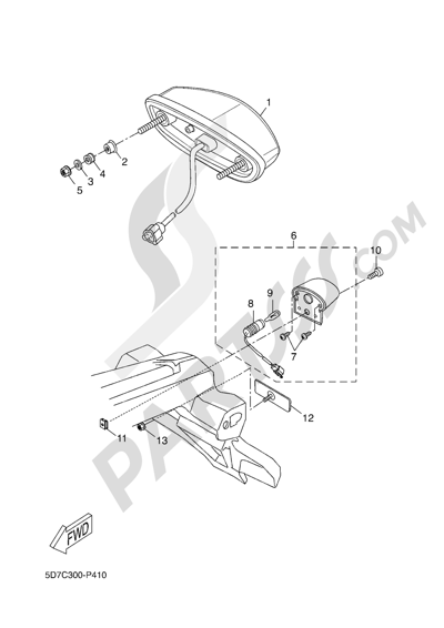 Yamaha MT-125 ABS 2016 REAR LIGHT