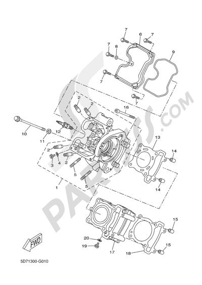 Yamaha MT-125 ABS 2016 CYLINDER HEAD