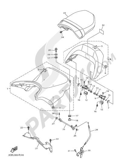Yamaha VMAX CARBON 2016 Dissassembly sheet  Purchase genuine