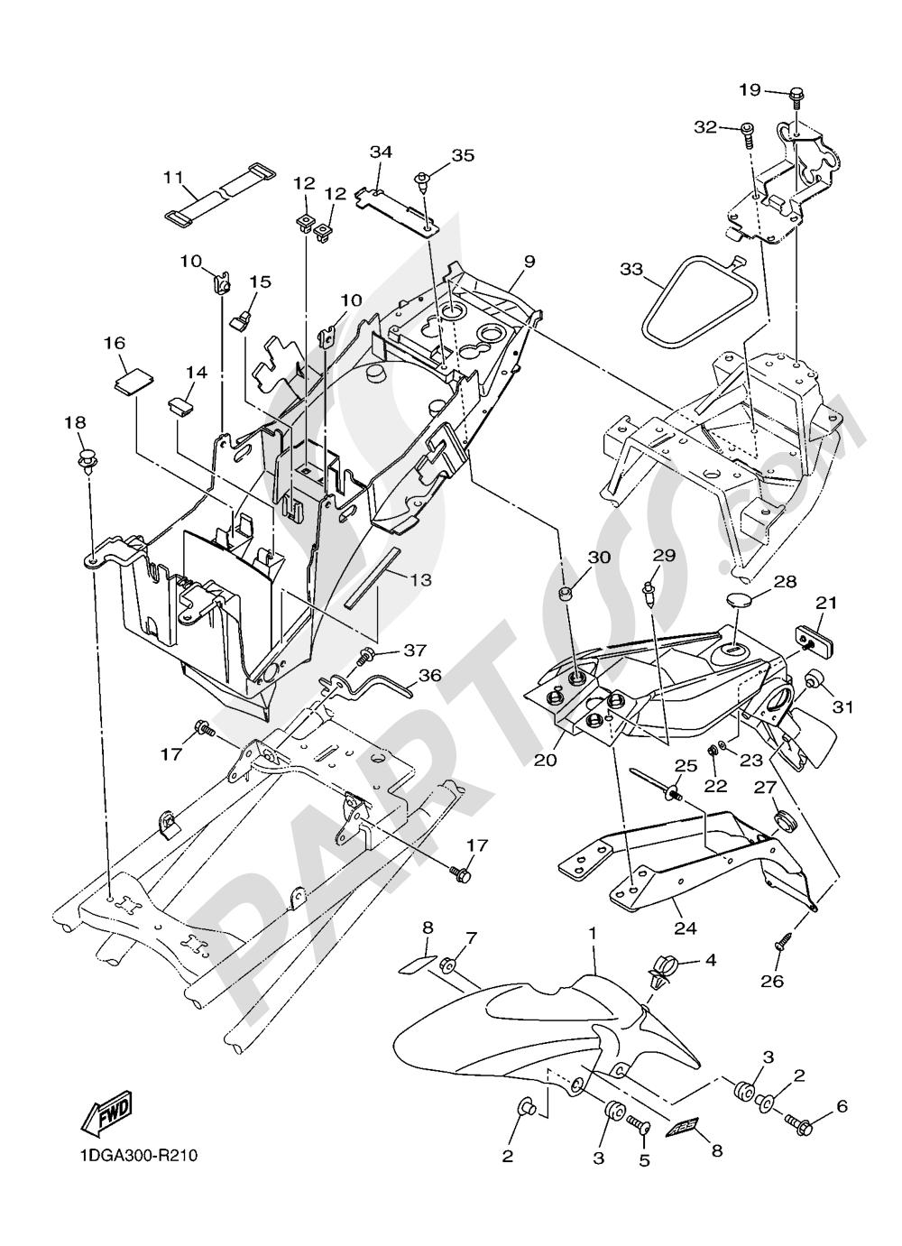 FENDER Yamaha XJ6 Diversion F ABS 2016