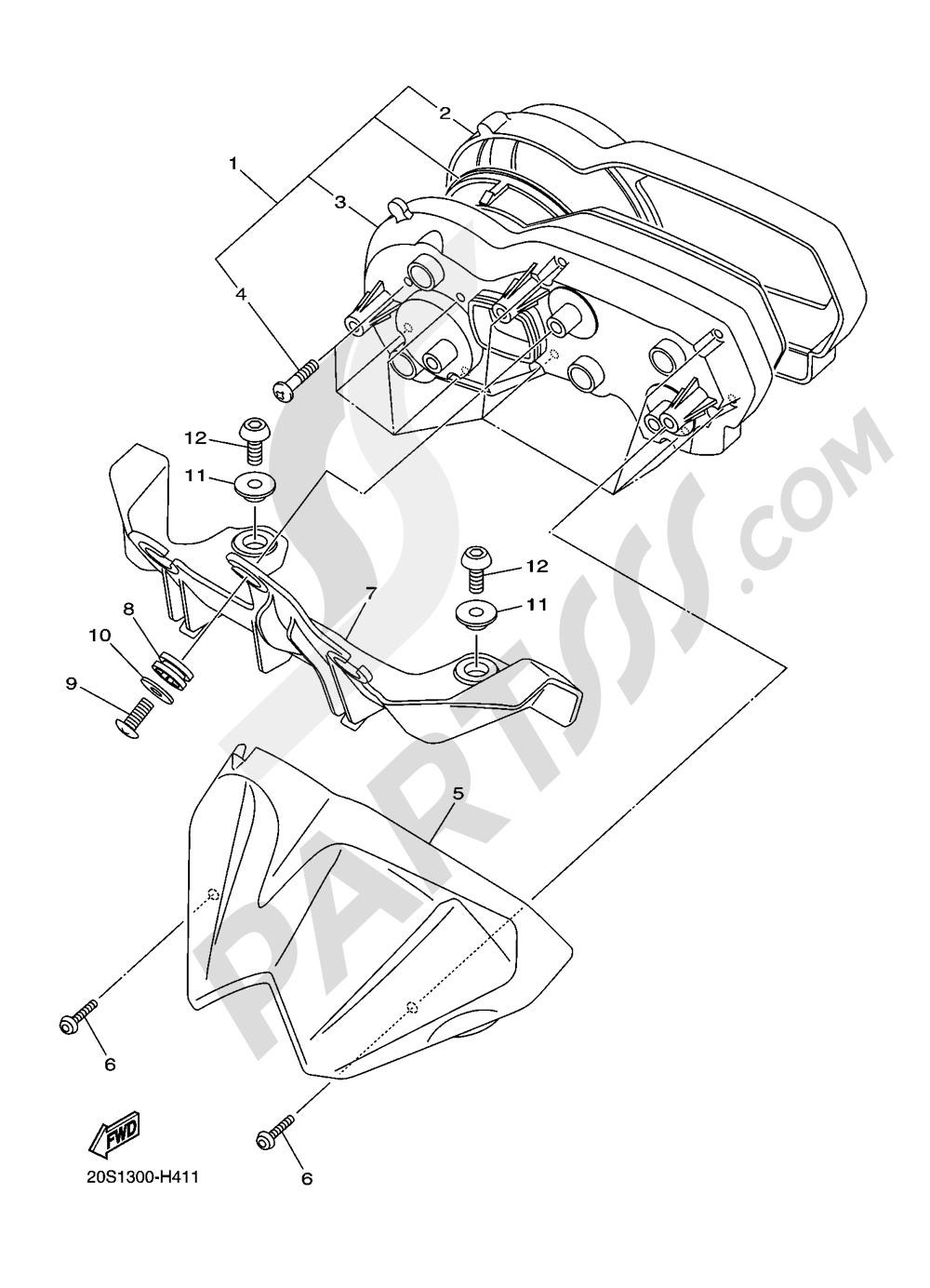 METER Yamaha XJ6 2016