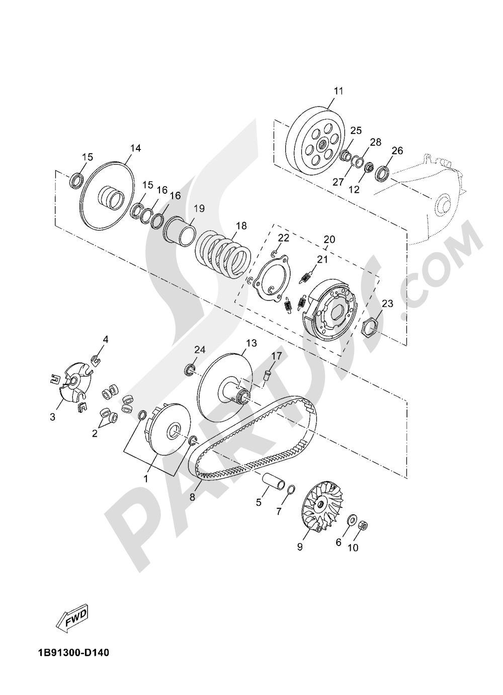 CLUTCH Yamaha X-Max 125 ABS 2016