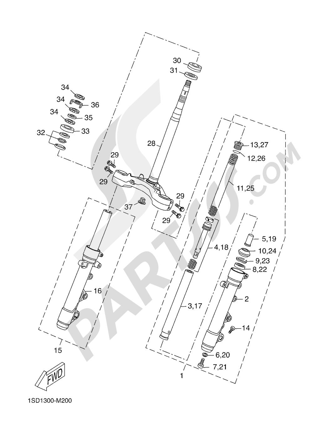 STEERING Yamaha X-Max 400 ABS 2016