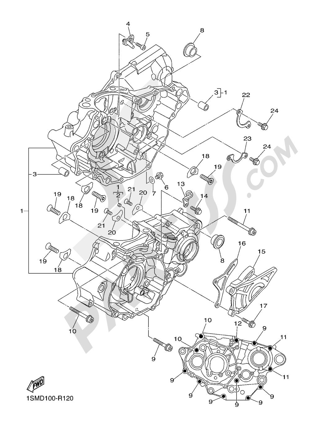 CRANKCASE Yamaha YZ250F 2016