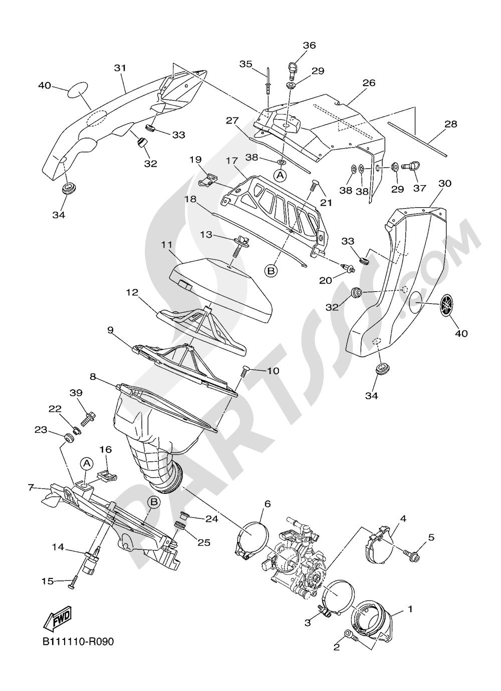 INTAKE Yamaha YZ450F 2016