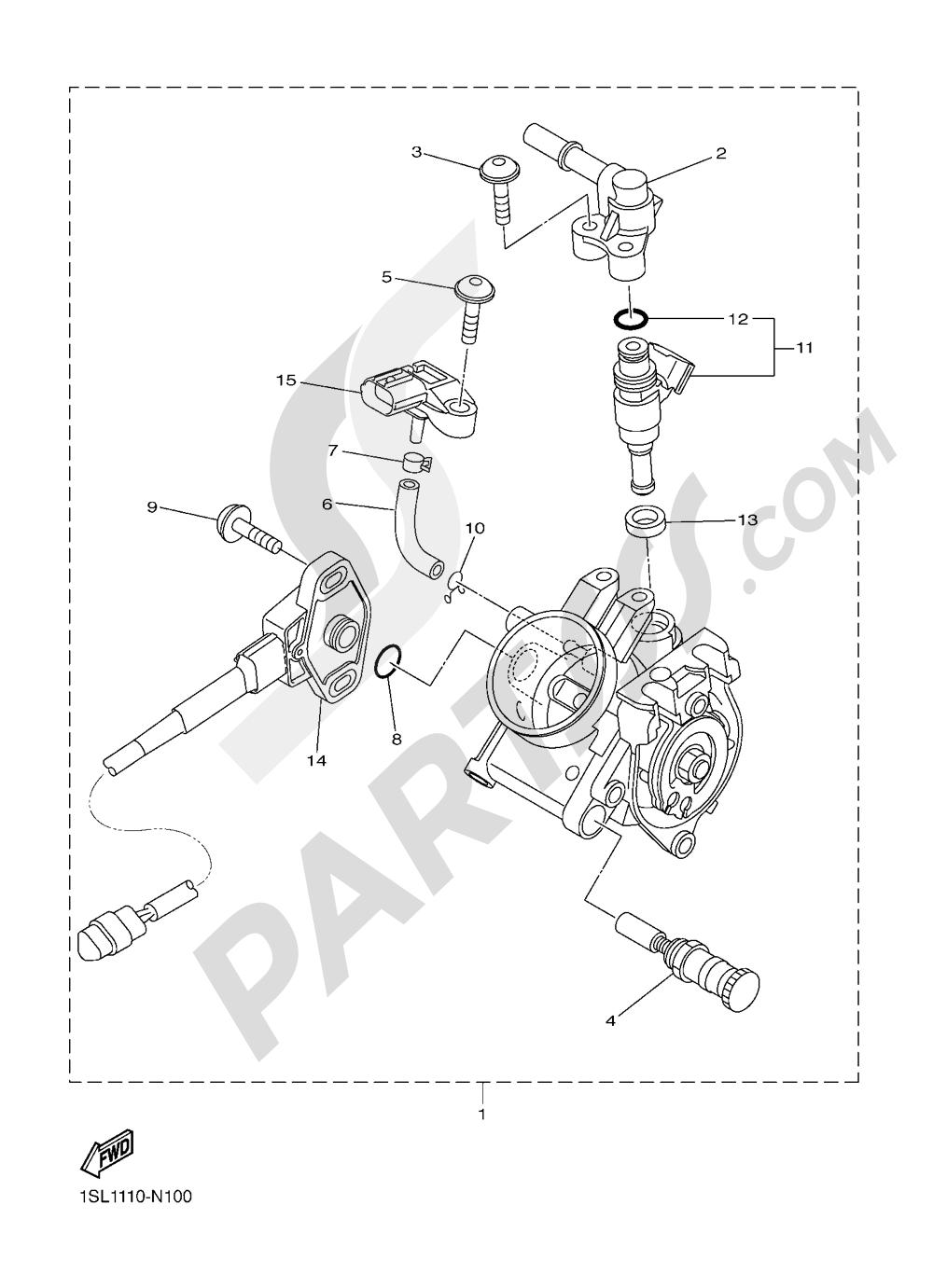 INTAKE 2 Yamaha YZ450F 2016