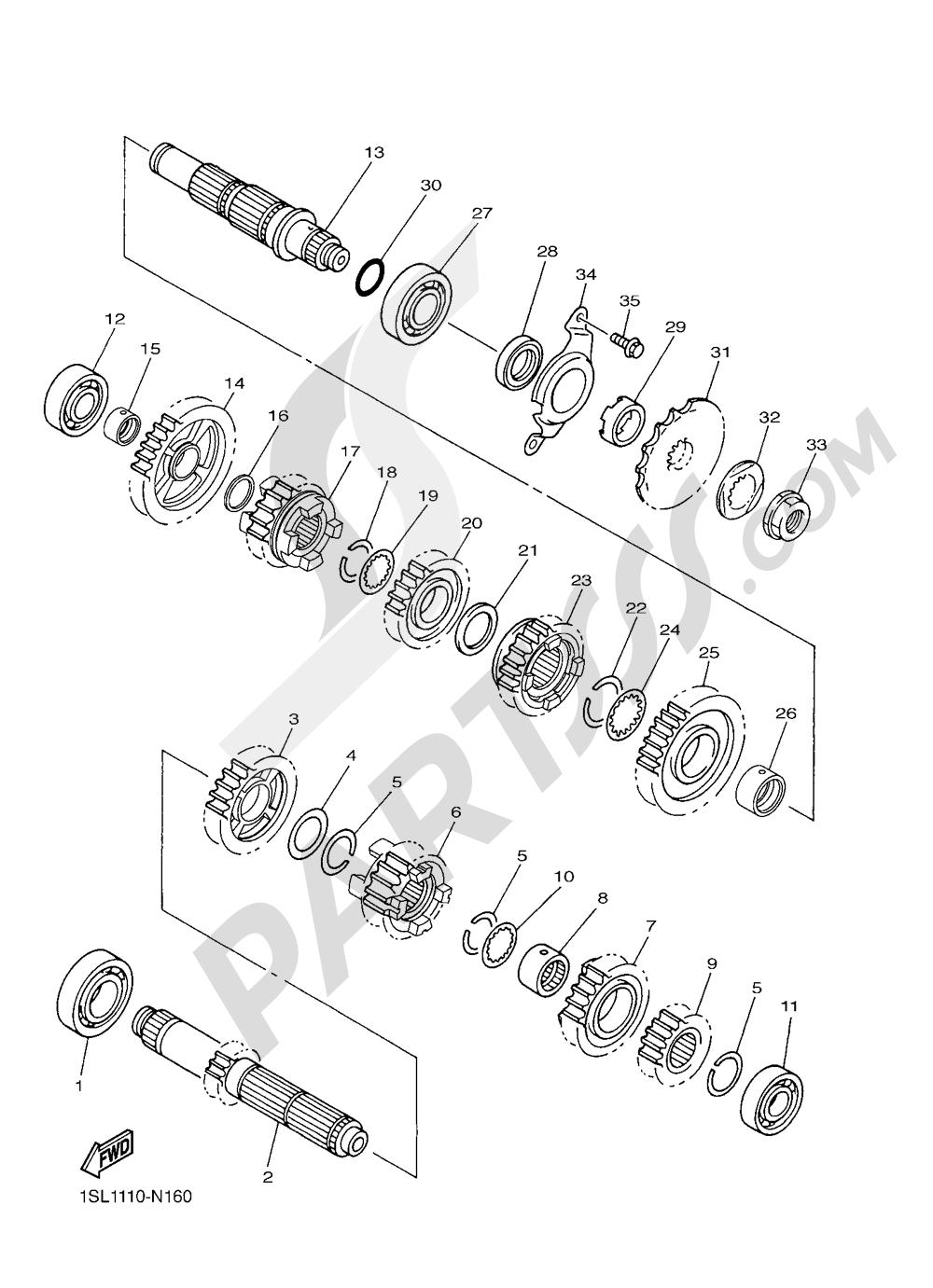 TRANSMISSION Yamaha YZ450F 2016