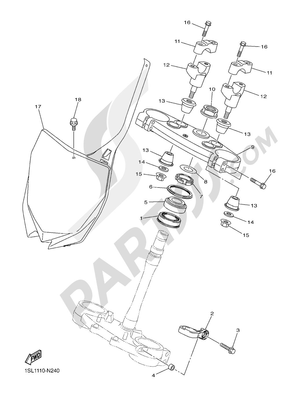 STEERING Yamaha YZ450F 2016