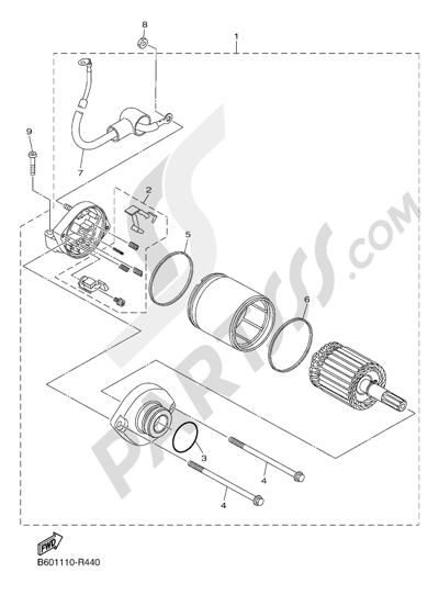 yamaha r1 starter diagram