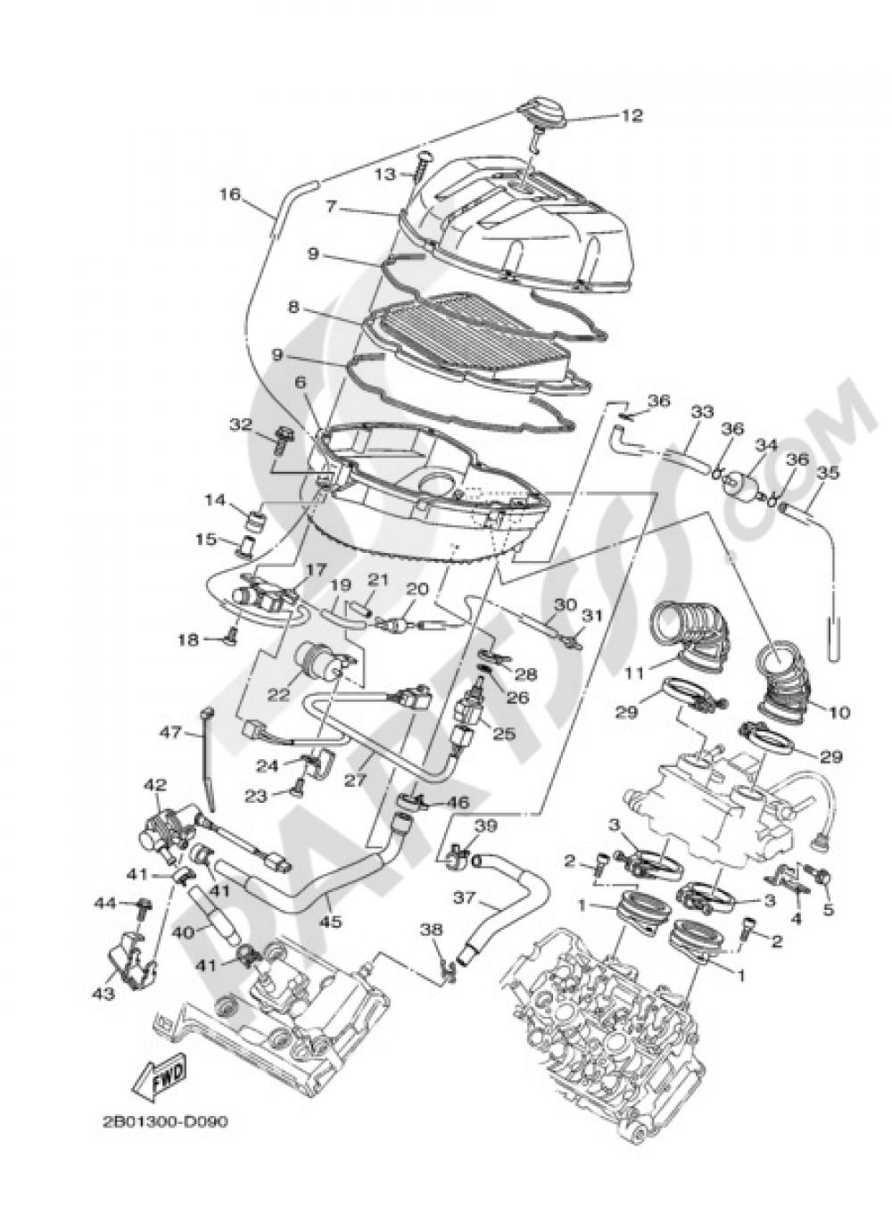 INTAKE Yamaha TDM 900 ABS 2007