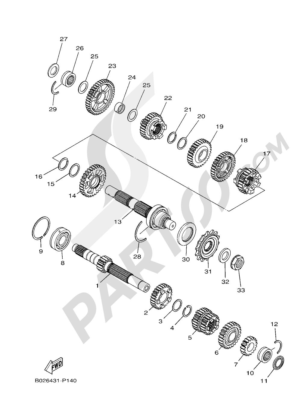 TRANSMISSION Yamaha YZF-R3 ABS 2016