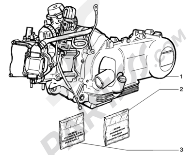 Piaggio BEVERLY 125 ANTERIOR 2005 Motor