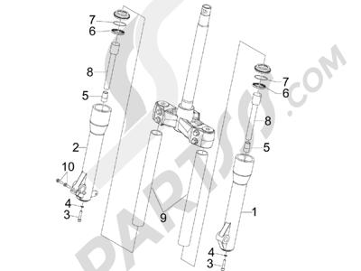 Piaggio BEVERLY 125 2005-2006 Componentes de la horquilla (Kayaba)