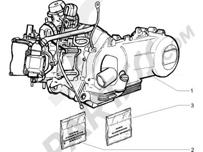 Piaggio BEVERLY 125 EURO 3 2007-2008 Motor completo