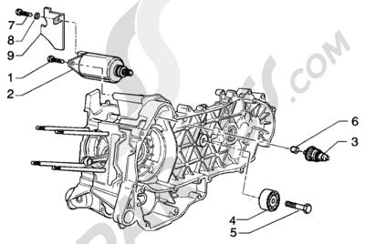 Piaggio BEVERLY 125 RST ANTERIOR 2005 Arranque electrico - polea amortiguador