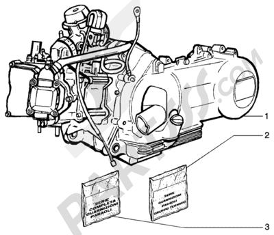 Piaggio BEVERLY 125 RST ANTERIOR 2005 Motor