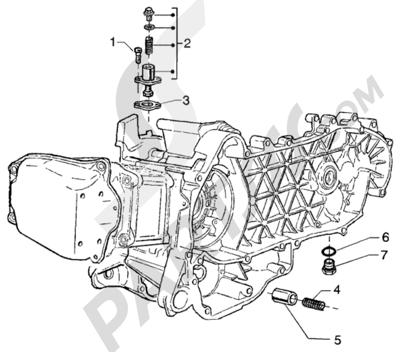 Piaggio BEVERLY 125 RST ANTERIOR 2005 Valvula by-pass - tensor de cadena