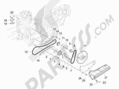 Piaggio BEVERLY 125 RST 4V ie E3 2010-2011-2012-2013-2014-2015 Bomba de aceite