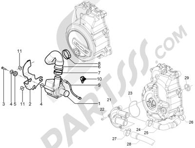 Piaggio BEVERLY 125 RST 4V ie E3 2010-2011-2012-2013-2014-2015 Bomba de agua