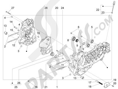 Piaggio BEVERLY 125 RST 4V ie E3 2010-2011-2012-2013-2014-2015 Cárter