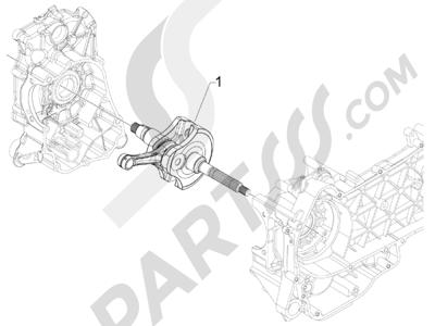 Piaggio BEVERLY 125 RST 4V ie E3 2010-2011-2012-2013-2014-2015 Cigüeñal