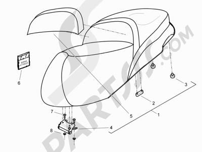 Piaggio BEVERLY 125 RST 4V ie E3 2010-2011-2012-2013-2014-2015 Sillín asientos
