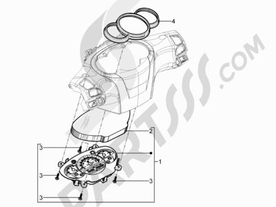Piaggio BEVERLY 125 RST 4V ie E3 2010-2011-2012-2013-2014-2015 Tablero de instrumentos - Cruscotto