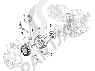 Piaggio BEVERLY 125 RST 4V ie E3 2010-2011-2012-2013-2014-2015 Volante magnetico