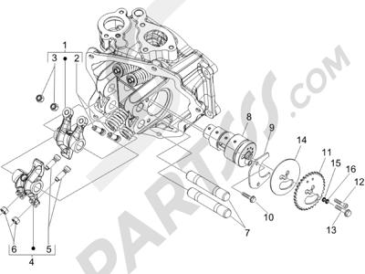 Piaggio BEVERLY 125 SPORT E3 2007-2008 Grupo soporte balancines