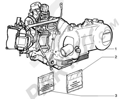 Piaggio BEVERLY 200 ANTERIOR 2005 Motor