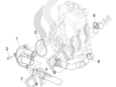 Piaggio BEVERLY 250 CRUISER E3 ie 2007-2009 Bomba de agua