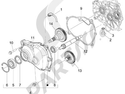 Piaggio BEVERLY 250 CRUISER E3 ie 2007-2009 Grupo reductor